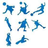 Schattenbild des Sportvektors