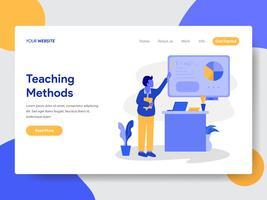 Målsida mall för privata handledning illustration koncept. Modernt plattdesignkoncept av webbdesign för webbplats och mobilwebbplats. Vektorns illustration