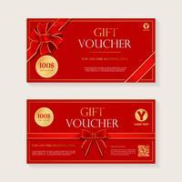 Geschenkgutschein-Schablonen-Vektor-Design