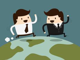Genossenschaftliches Geschäft. Geschäfts-Karikatur-Konzept-Illustration. Idee Konzept.