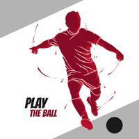 Fußball Fußball Splash-Spieler vektor