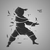 Kampfkunst Splash Power vektor