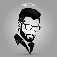 Hipster hårstil 05 vektor