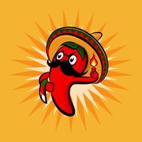 Chili Sombrero Hut vektor