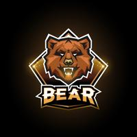 björn emblem logotyp vektor