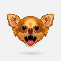 chihuahua hundhuvud vektor