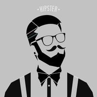 hipster män stil vektor