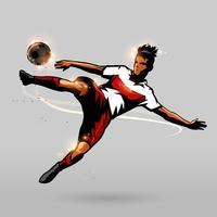 Fußball schnell schießen vektor