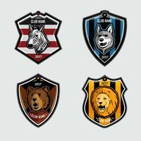 Tier-Zeichen-Embleme vektor