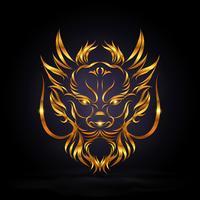 abstrakter goldener Drache