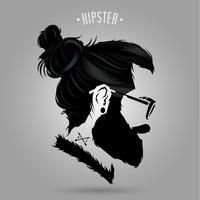 hipster indie tecken vektor