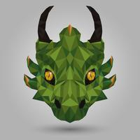 Geometrisk grön drake