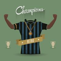 retro fotbollsspelare mästare