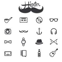 Hipster Icons Set vektor