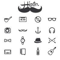 Hipster ikoner uppsättning