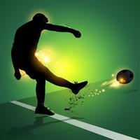 Freistoßschießen des Fußballspielers vektor