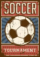 Fußball Fußball Sport Retro Pop Art Poster Beschilderung