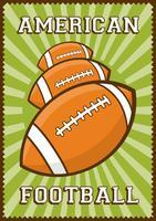 Amerikansk fotboll Rugby Sport Retro Pop Art Poster Signage