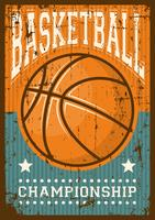 Basketball Fußball Sport Retro Pop Art Poster Beschilderung vektor