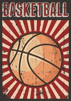 Basketfotboll Sport Retro Pop Art Poster Signage vektor