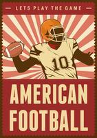 American Football Rugby Sport Retro Pop Art Poster Beschilderung