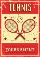 Tennis Sport Retro Pop Art Poster Beschilderung vektor