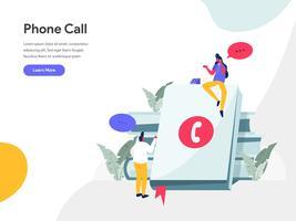 Telefon Call Illustration Concept. Modernt plandesignkoncept av webbdesign för webbplats och mobilwebbplats. Vector illustration EPS 10