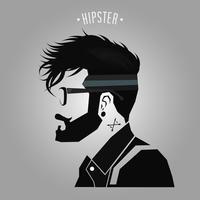 Hipster under klippning vektor