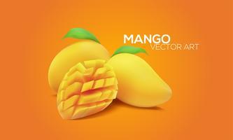Realistiska mango i vektor