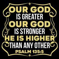 Unser Gott ist größer vektor