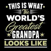 Detta är vad världens mest stora morfar ser ut vektor