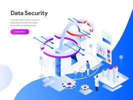 Datensicherheits-isometrisches Illustrations-Konzept. Modernes flaches Konzept des Entwurfes des Webseitenentwurfs für Website und bewegliche Website Vektorillustration ENV 10