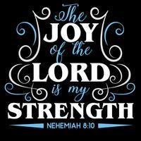 Die Freude des Herrn ist meine Stärke vektor