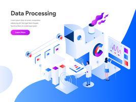 Datatillverkning Isometric Illustration Concept. Modernt plandesignkoncept av webbdesign för webbplats och mobilwebbplats. Vector illustration EPS 10