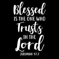 Gesegnet ist der, der auf den Herrn vertraut vektor