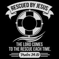 Von Jesus gerettet vektor