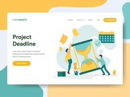 Målsida mall för Project Deadline Illustration Concept. Modernt plattdesign koncept av webbdesign för webbplats och mobil website.Vector illustration vektor