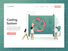 Kühlsystem Illustration Konzept. Modernes Konzept des Entwurfes des Webseitenentwurfs für Website und bewegliche Website. Vektorillustration ENV 10