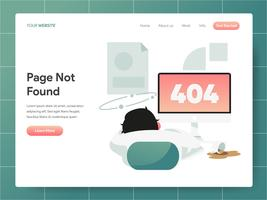 404 Error Page Not Found Abbildung. Modernes flaches Konzept des Entwurfes des Webseitenentwurfs für Website und bewegliche Website Vektorillustration ENV 10