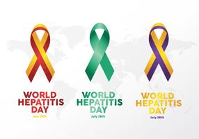 Welt Hepatitis Tag Ribbon Logo