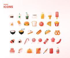 Lebensmittel-Ikonen-Vektor-Satz