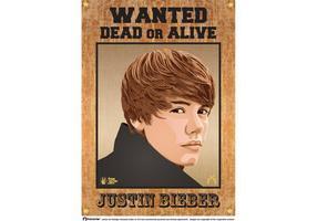 Justin Bieber wollte Plakat vektor