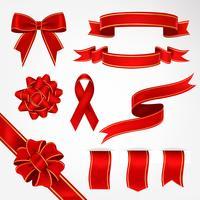 Realistisk Dekorativ Ribbon Vector Pack