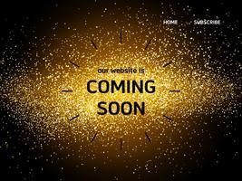 Webbsida målsida med snart kommande ord