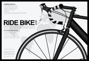 Cykla affischdesign mall Vektor illustration