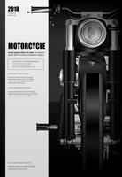 Poster Chopper Motorcykel isolerad Vektor illustration