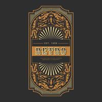 Retro etikett Vector Collection