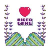 Pixelige Videospiellandschaft vektor