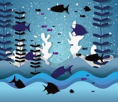 Papierkunst unter Wasser vektor