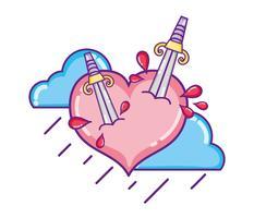 Kärlek och hjärtan teckningar vektor